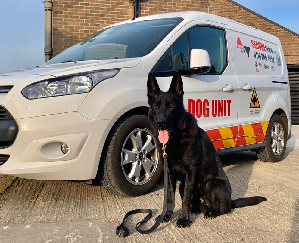k9 unit next to secure sites leicester van